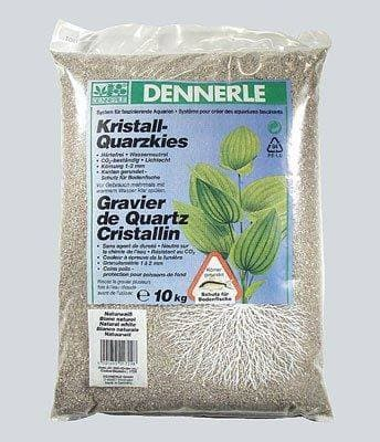 Аквариумный грунт DENNERLE Kristall-Quarz, гравий фракции 1-2 мм, цвет природный белый, 10 кг.