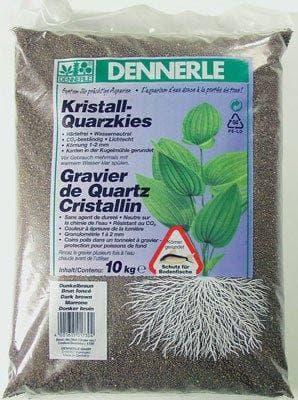 Грунт DENNERLE Kristall-Quarz, 1-2 мм, темно-коричневый, 10 кг.