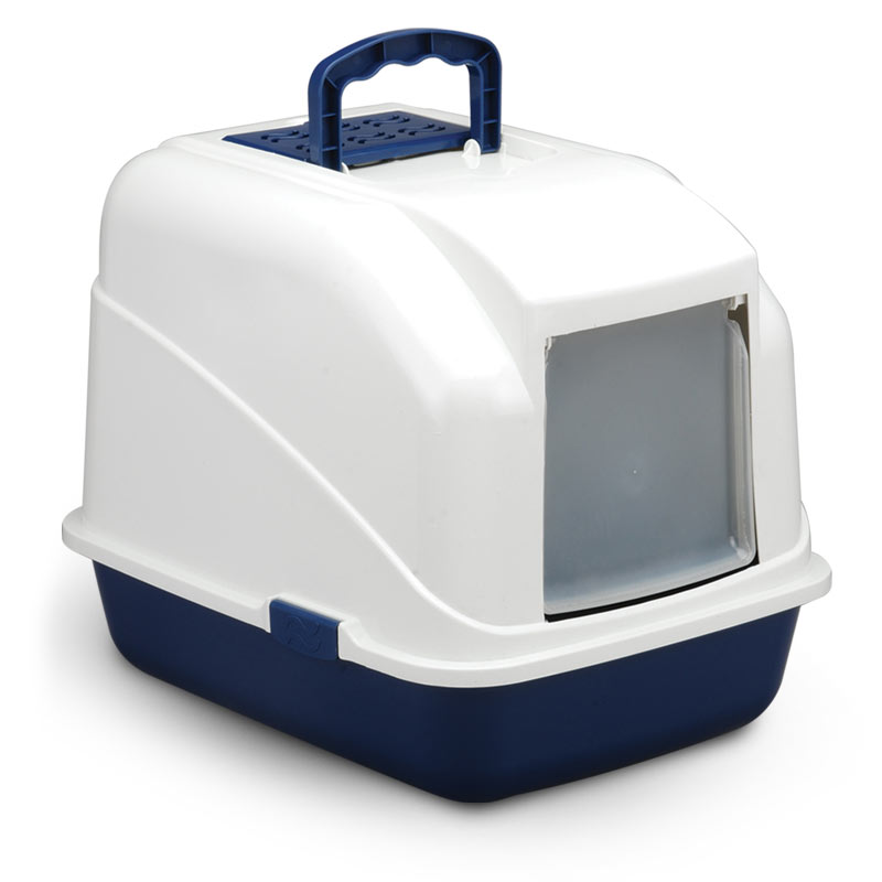 Триол Туалет LB04 для кошек закрытый (совок в комплекте), цвет в ассортименте, 480*400*410мм