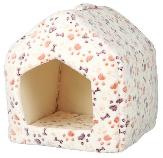 Трикси Лежак-пещера для собак Lingo 40х40х45 см, белый-бежевый артикул 36355