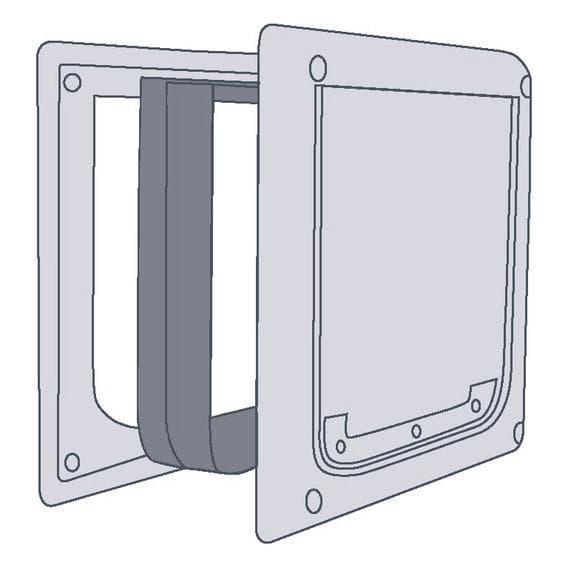 Дополнительный элемент тоннель для дверцы 3877 белый.