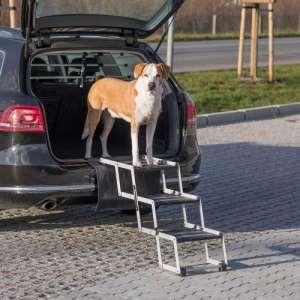 Лестница для собак складная Petwalk, алюминий, ширина: 37 см, высота: до 57 см, глубина: до 120 см артикул 39376
