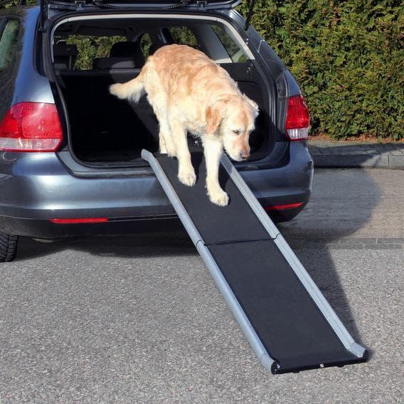 Пандус для собаки,алюминий, 38х155 см, для собаки весом до 75 кг черный артикул 3938