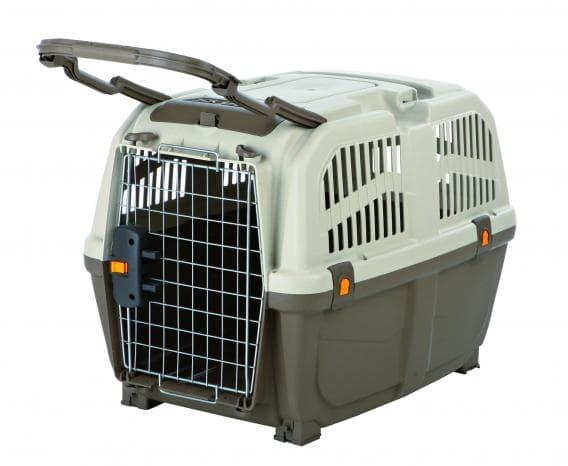 Trixie Переноска для собак Skudo, M 59 х 65 х 79 см, IATA серо-коричневый/песчаный артикул 39743