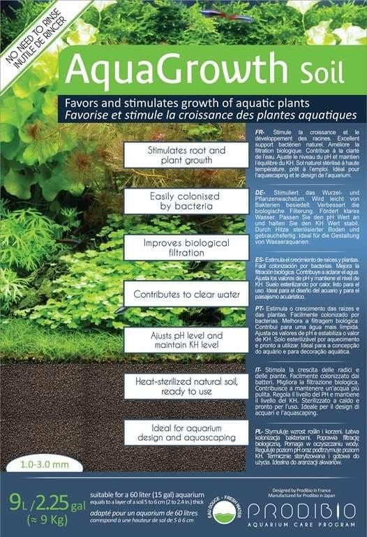 PRODIBIO Грунт аквариумный для растений AquaGrowth Soil 1-3мм, 9л