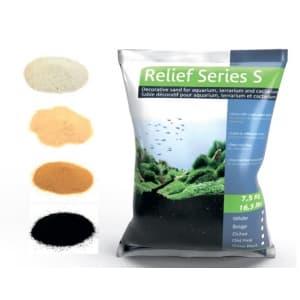Песок декоративный Prodibio Relief Series S, охра, 1кг