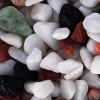 """UDeco Canyon Mix - Натуральный грунт для аквариумов """"Разноцветный гравий"""", 4-6 мм, 6 л"""