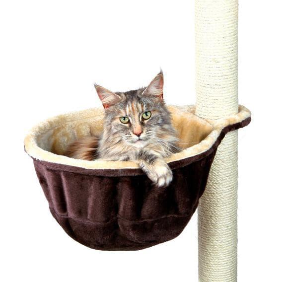 Trixie Гамак для кошки к домику, ф 38 см, бежевый/коричневый, арт.43910