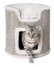 Trixie Домик-башня для кошки Ria артикул 44706 37х37 см светло-серый