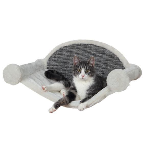 Trixie Лежак-Гамак для крепления к стене для кошки, с когтеточкой 54х28х33 см, кремовый с серым артикул 49920