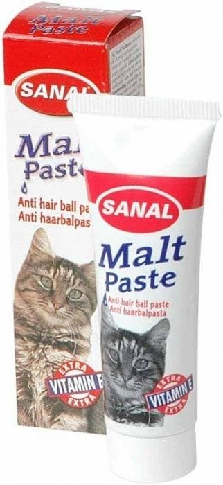 SV6020 SANAL д/кошек Malt-Paste  20г (Паста для вывода шерсти + Вит. Е)