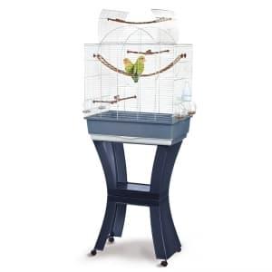 Имак клетка для птиц MATILDE, оцинк./пепельно-синий, на колесах и подставке, 58х38х71/143см