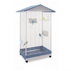 Имак клетка для птиц PERVINCA, пепельно-синий, 100,5х72,5х167,5см