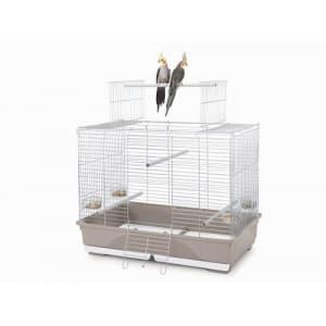 Имак клетка для птиц WILMA, оцинк./серый, 80,5х49х65,5см