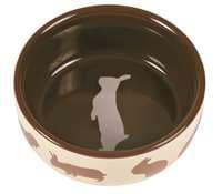 Миска для кролика, 250 мл/11 см, керамика
