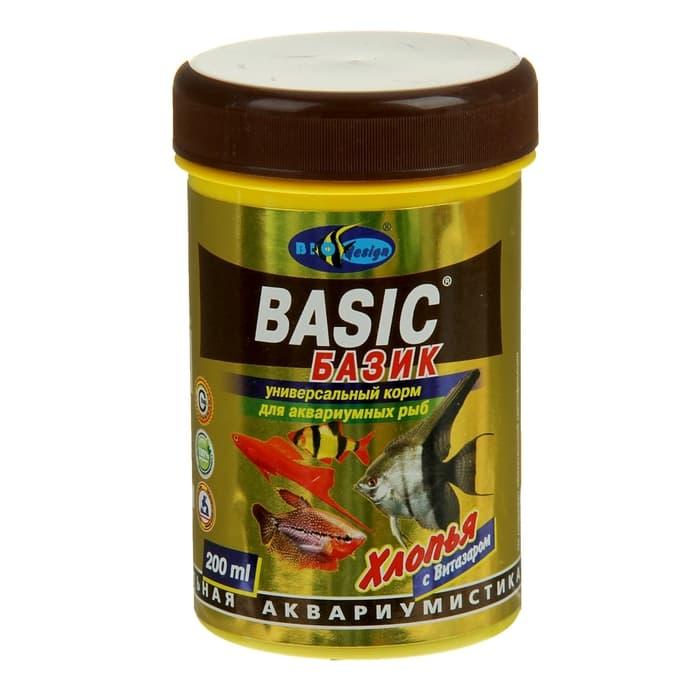 Биодизайн БАЗИК flake универсальный корм для всех видов рыб  250 мл 911386