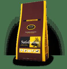 Корм для взрослых собак ягненок с рисом SATISFACTION LAMB/RICE 3кг
