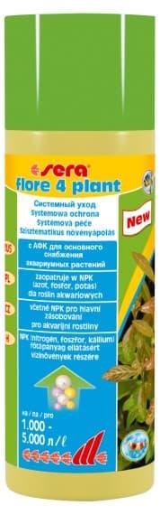 Sera Удобрение для аквариумных растений FLORE 4 PLANT 250 мл