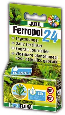 JBL Ferropol 24 - Ежедневное комплексное удобрение для аквариумных растений, 50 мл.