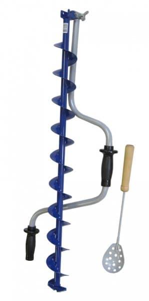 Ледобур Тонар ЛР-80 СД (80 мм) двуручный, спортивный, левый, полукруглые ножи