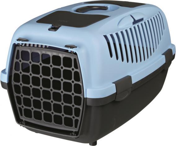 Trixie Переноска для собак Capri 2, XS 37х34х55 см, артикул 39822  темно-серый/голубой