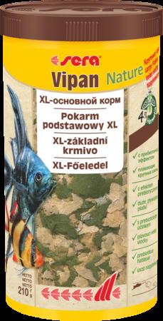 Сера Корм для рыб основной в хлопьях VIPAN NATURE 1000 мл 210 г (крупные хлопья) (S32285)