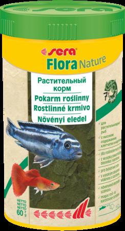 Сера Корм для рыб растительный в хлопьях FLORA NATURE 1000 мл 210 г (S32246)