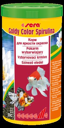 Сера Корм для золотых рыб в гранулах GOLDY Color Spirulina 1 л 390 г (улучшает окраску) (S0883)