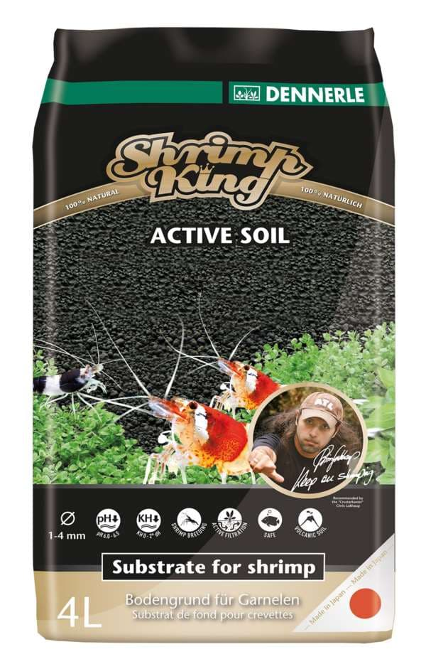 Грунт DENNERLE SHRIMP KING ACTIVE SOIL, 4л