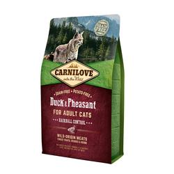 Carnilove 2кг Duck&Pheasant for Adult Cats Hairball Control д/взросл.кошек, Утка и Фазан 512348