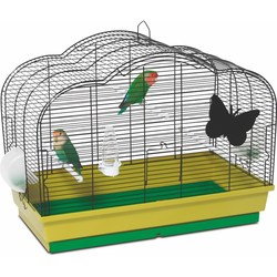 PetInn  Клетка д/птиц  MARGHERITA (2 кормушки, поилка, 3 жердочки) 74х40x49,5