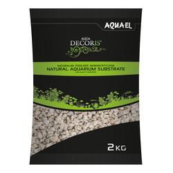 AQUAEL Грунт AQUA DECORIS  DOLOMITE GRAVEL 2 - 4мм, 2кг (бежевый)-специальный природный базальтовый грунт для аквариумов, арт,114042