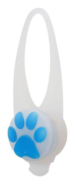 Трикси Мигающая клипса на ошейник для собак, 2.4 см/8 см, белый с рисунком, арт.13440