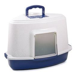 Триол Туалет LB03 для кошек закрытый угловой (совок в комплекте), цвет в ассортименте, 565*425*400мм