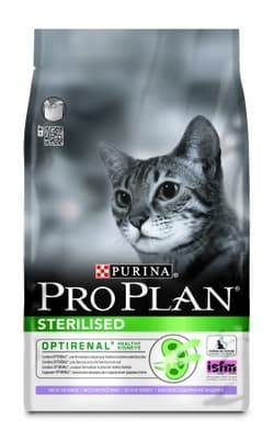 PRO PLAN STERILISED для стерилизованных кошек Индейка 10кг