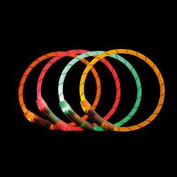 ТРИКСИ Мигающее кольцо для собак USB, M-L: 45 см/7 мм, нейлон, розовый, арт.12707