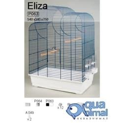 P063B Клетка InterZoo для птиц ELIZA черный 540X340X750