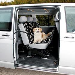 Автомобильная подстилка для собак 1,40х1,45см.,нейлон, серый/беж. Для заднего сидения артикул 13234