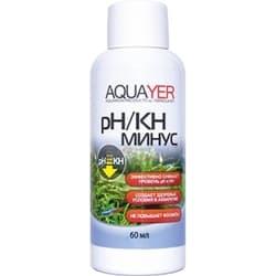 Средство для воды AQUAYER pH/KH минус, 60 mL