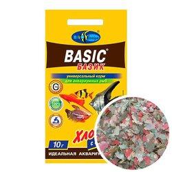 БАЗИК 10г- хлопья (flake), универсальный корм для всех видов рыб (пакет)