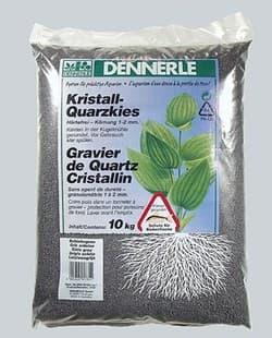Грунт DENNERLE CRYSTAL QUARTZ, темно-серый, 1-2 мм, 10 кг.
