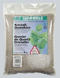 Аквариумный грунт DENNERLE Kristall-Quarz, гравий фракции 1-2 мм, цвет природный белый, 5 кг.