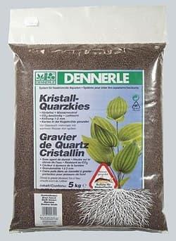 Грунт DENNERLE Kristall-Quarz, 1-2 мм, темно-коричневый, 5 кг.