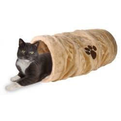 Trixie Тоннель для кошки, плюш, 60 см/ø 22 см, бежевый, артикул 42981