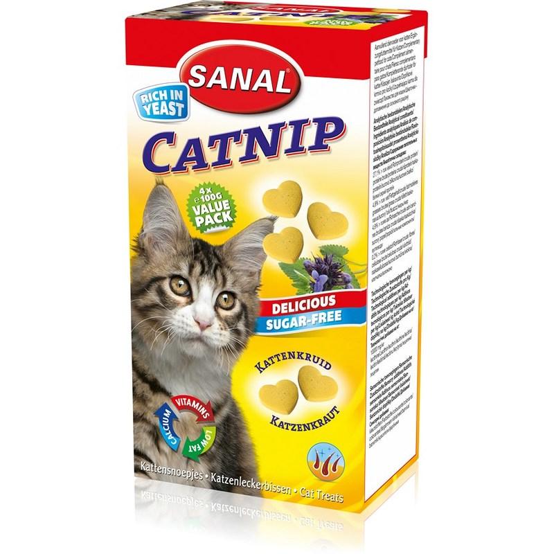 SC1805 SANAL СATNIP 400г для кошек Антистрессоввые витамины с кошачьей мятой