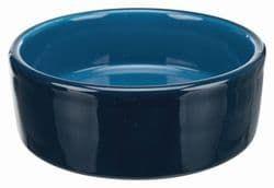 Трикси Миска керамическая, 0.3 л/ 12 см, тёмно-синий, арт. 25116