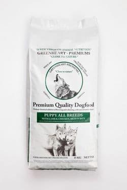 Корм для собак GREENHEART-PREMIUMS Puppy All Breeds 15 кг Для щенков всех пород с мясом ягненка и рисом