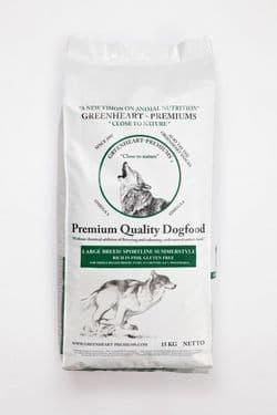 Корм для собак GREENHEART-PREMIUMS Large Breed Sportline Summerstyle 15 кг Безглютеновый рацион для активных собак и юниоров средних и крупных пород