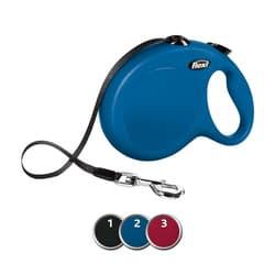 FLEXI Рулетка NEW CLASSIC L ремень 8 м до 50 кг, синий, арт. 47302
