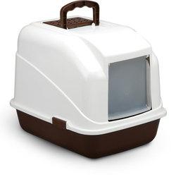 Триол Туалет LB04 для кошек закрытый (совок в комплекте), кофейный, 480*400*410мм